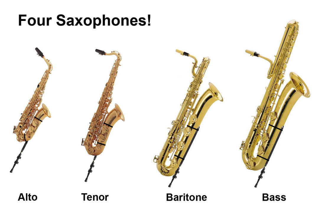 SaxSupport Sax Stand Fits Four Saxophones.