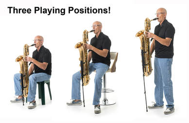 SaxSupport Three Playing Positions